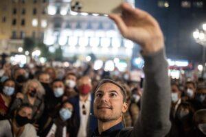 Juan Lobato en el acto de cierre de su campaña a las primarias del PSOE-M - Alejandro Martínez Vélez - Europa Press