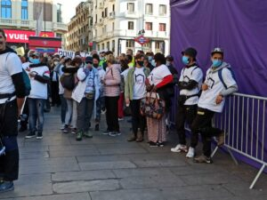 Marcha de personas sin hogar por el centro de Madrid / Foto: Eduardo Velasco